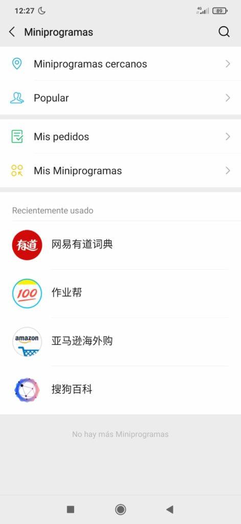 Ejemplos de miniprogramas WeChat